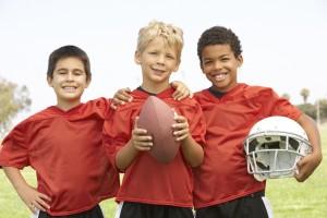american football children players
